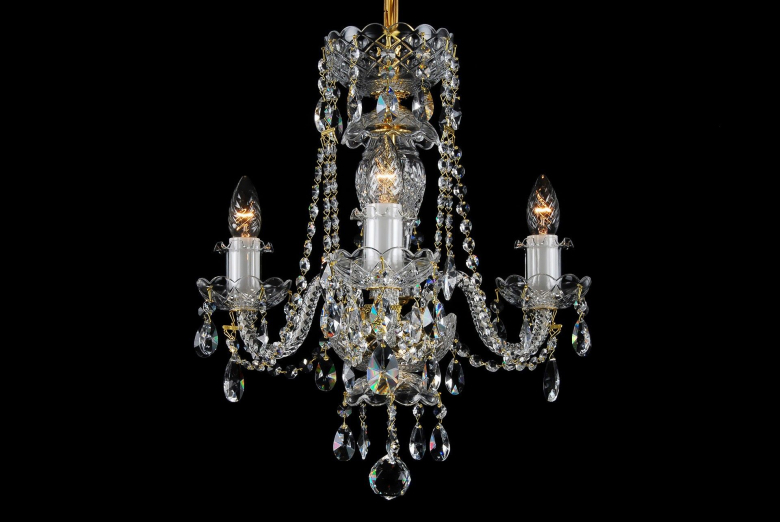 The smallest neutral crystal chandelier.