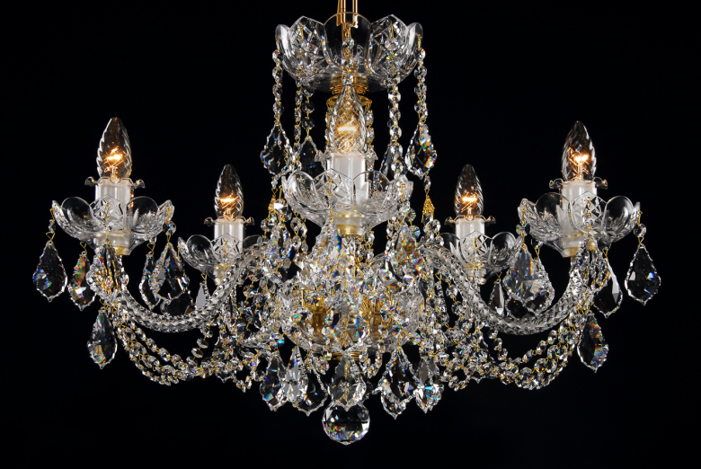 Small crystal chandelier for low ceiling