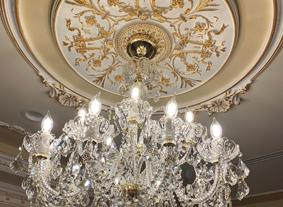 Křišťálový lustr Galaxy-crystal v luxusní vile, Los Angeles, USA