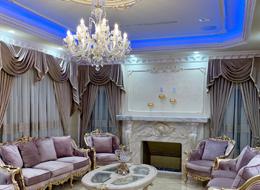 Galaxy crystal chandeliers in luxury American villa