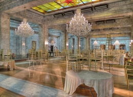 CH-42 Crystal-XL crystal chandeliers: The Ballroom of the Ukraine hotel, A Good Day to Die Hard