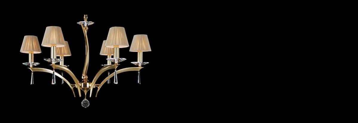 Coated Crystal chandeliers